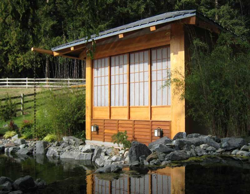 Japanese Outdoor Bath House Design